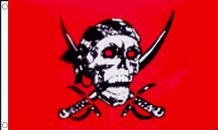 RED SKULL PIRATE - 3 X 2 FLAG